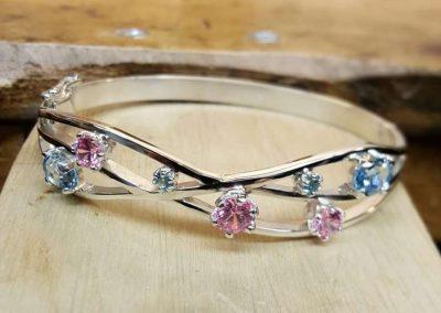 handmade bracelet with stones