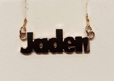 personalised name chain